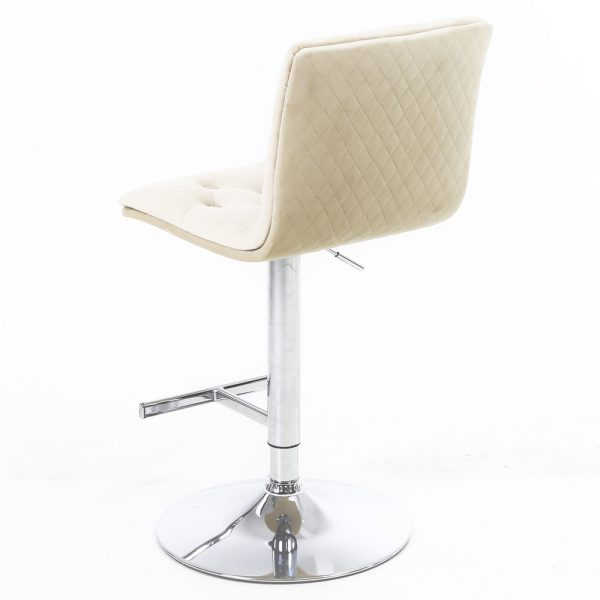 Elegant Mink Fabric bar Stool
