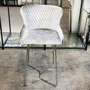 Osaka Silver HQ Bar Stool