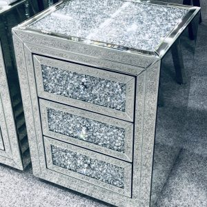 Crushed Diamomd Bedside Cabinet