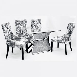Crushed Diamond Dining Table T-4 Only