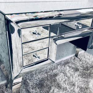 Curved Mirrored Dresser