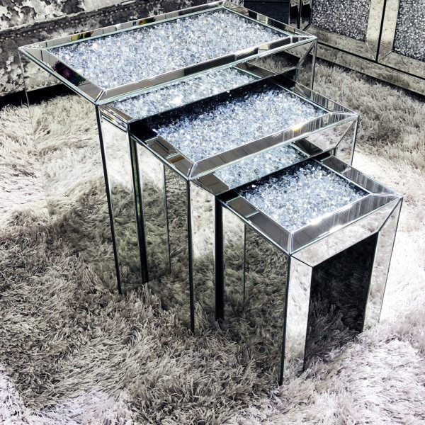 Crushed Diamond Nest of Tables