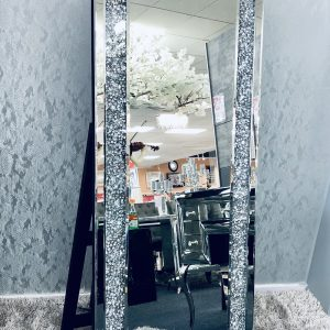 Crushed Diamond LED Cheval Mirror