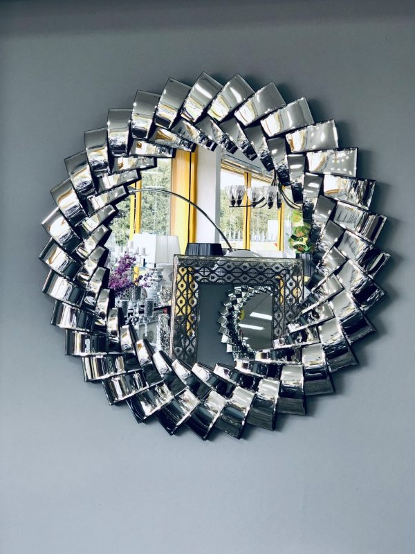 Curved Round Wall Mirror