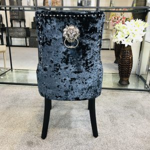 Venice Premium Crushed Velvet Black Dining Chair