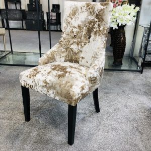 Venice Premium Crushed Velvet Mink Dining Chair
