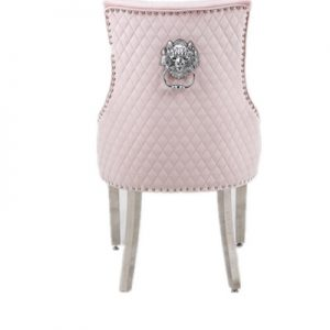 Majestic Pink Velvet Dining Chair