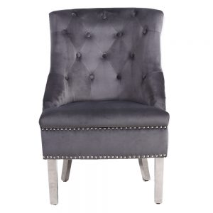 Majestic Grey Wing Chair